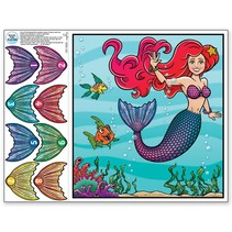 *Pin the Tail on the Mermaid Game