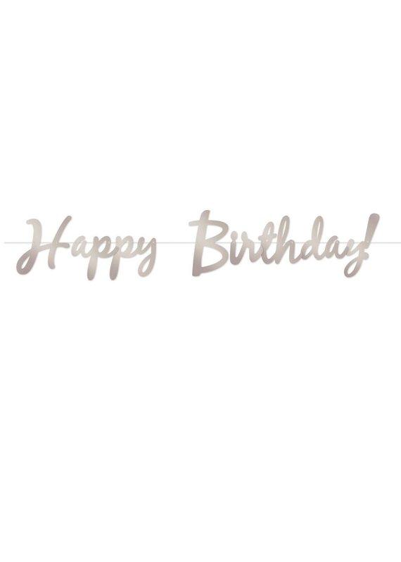 ****Silver Happy Birthday Foil Streamer