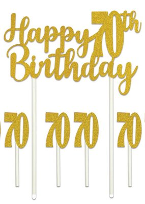 ***Happy 70th Birthday Cake Topper