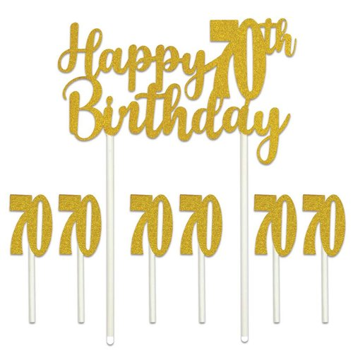 Happy 70th Birthday Cake Topper