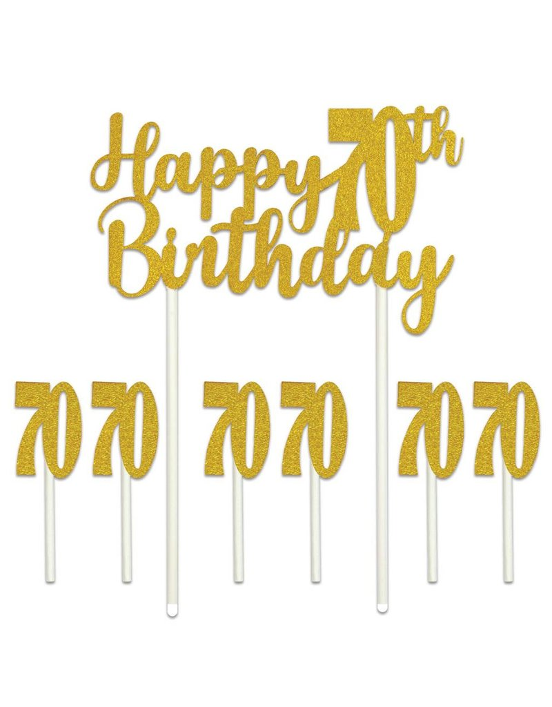 Brilliant Happy 70Th Birthday Cake Topper Amys Party Store Funny Birthday Cards Online Aboleapandamsfinfo