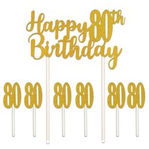 ***Happy 80th Birthday Cake Topper