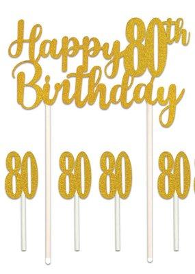 ***Happy 80th Birthday Cake Topper