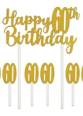 ***Happy 60th Birthday Cake Topper