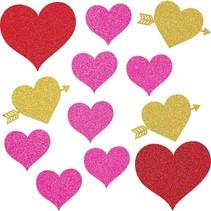 Valentine's Glitter Heart Cutouts