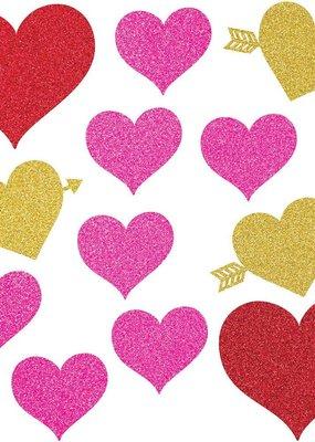 ***Valentine's Glitter Heart Cutouts
