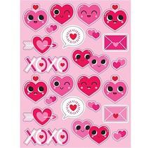 Emoji Valentine Heart Stickers