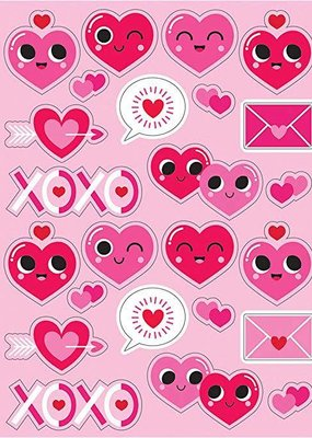 ***Emoji Valentine Heart Stickers