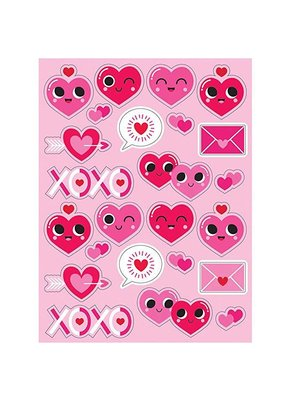***Emoji Valentine Heart Stickers