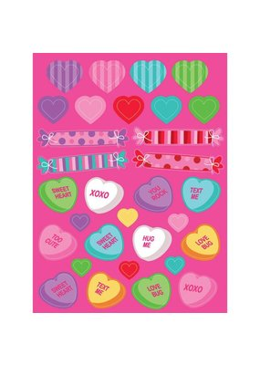***Hearts & Candies Sticker Sheets 4ct