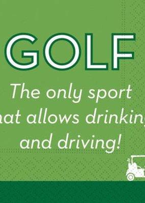 Design Design ***Golf Drink and Drive Cocktail Napkins