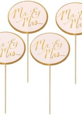 Design Design ***Mr. & Mrs. Gold & Pink Party Picks