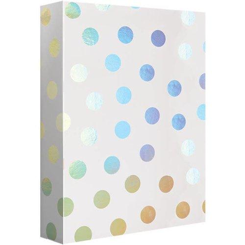 Design Design Silver Polka Dot Spectrum 4ft. Roll Wrap