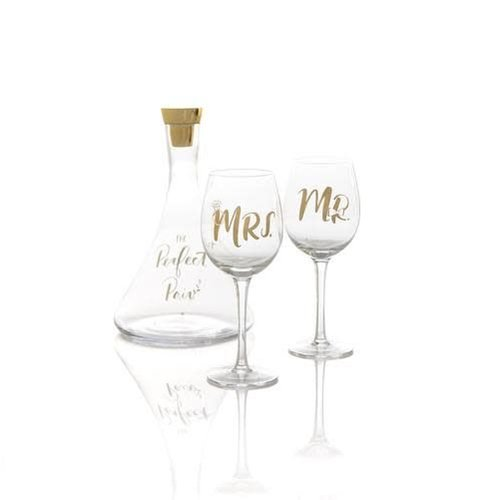 Shiraleah The Perfect Pair Decanter and Wine Glass Gift Set