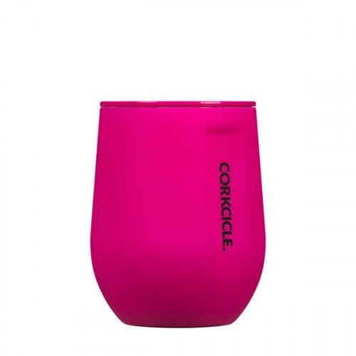 Corkcicle Neon Pink Stemless Wine Glass