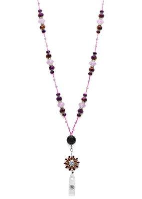 Laura Jenelle ***Purple Flower Lanyard