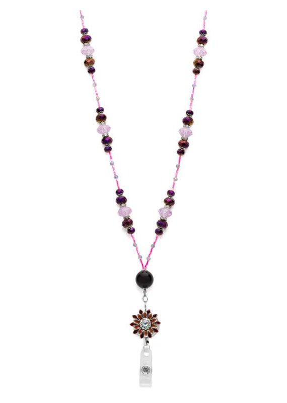 Laura Jenelle ***Purple Flower Lanyard