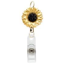 Retractable Sunflower Badge Reel