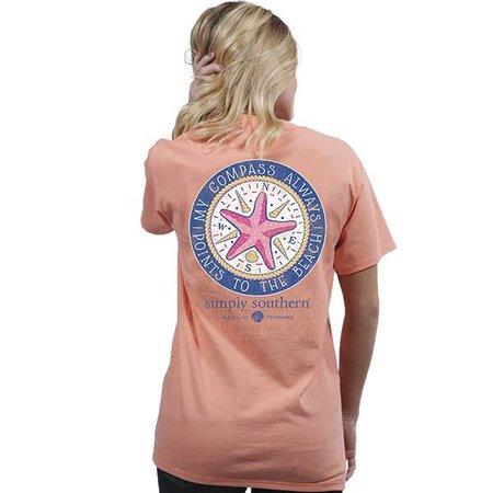 Preppy Compass Peachy
