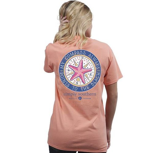 Preppy Compass Peachy