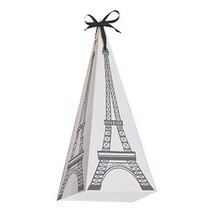 Party in Paris Cone Shaped Treat Boxes 8ct