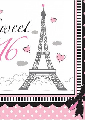 ***Party in Paris Sweet 16 Lunch Napkins