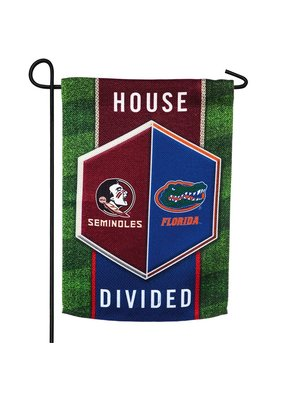 ****Florida & Florida State House Divided Garden Flag