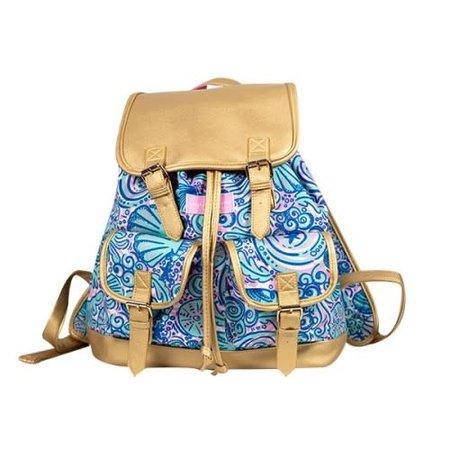 Swirly Seashell Bookbag