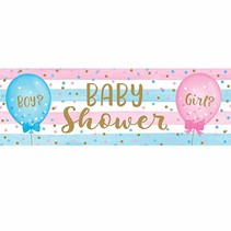 *Gender Reveal Balloons Giant Party Banner