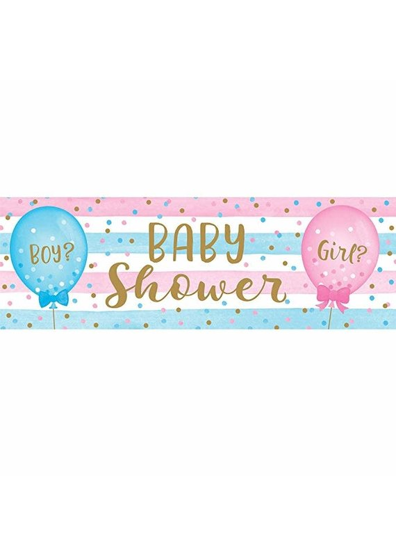****Gender Reveal Balloons Giant Party Banner
