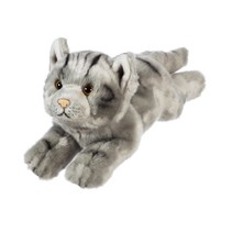 "Gray Tabby Cat 12"" Stuffed Animal"