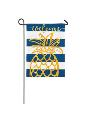 ***Pineapple Stripe Garden Linen Flag