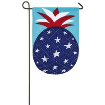 Patriotic Pineapple Garden Applique Flag