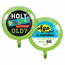 "***Age Humor Birthday 18"" Mylar Balloon"