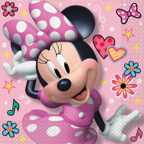 Iconic Minnie Mouse Lunch Napkins