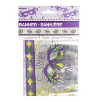 ***Jazzy Mardi Gras Foil Banner