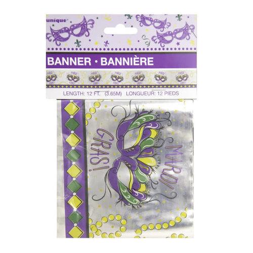 Jazzy Mardi Gras Foil Banner
