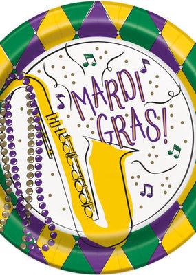 "***Jazzy Mardi Gras 7"" Dessert Plates 8ct"