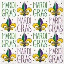 ***Jazzy Mardi Gras Lunch Napkins