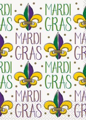***Jazzy Mardi Gras Lunch Napkins 16ct