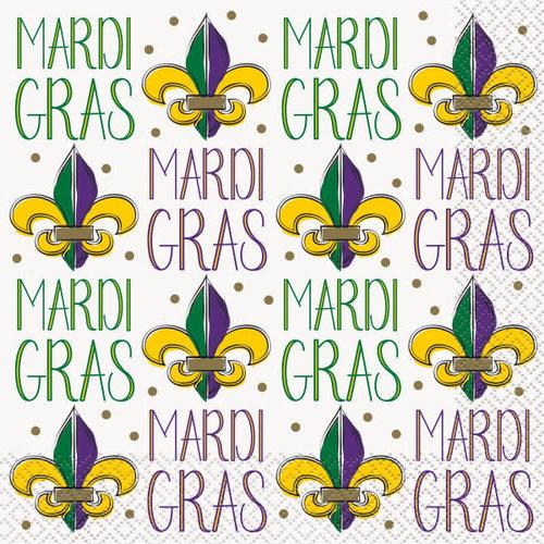 Jazzy Mardi Gras Lunch Napkins