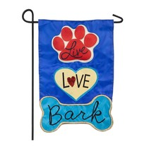 *Live Love Bark Garden Applique Flag