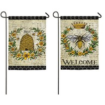 *Queen Bee Garden Suede Flag