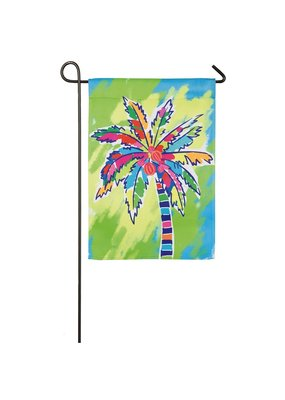 ***Painted Palm Tree Garden Suede Flag
