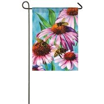 *Bees and Coneflower Garden Satin Flag