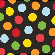 Polka Dot Birthday Beverage Napkins