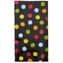 Polka Dot Birthday Plastic Tablecover