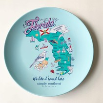 ***Florida Melamine Plate by Simply Southern