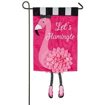 *Let's Flamingle Garden Applique Flag