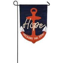 ***Hope Anchors the Soul Garden Linen Flag